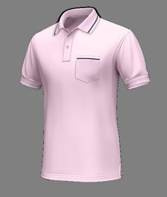 Polo rosa di cotone - Polo su misura