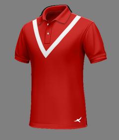 Polo rossa casual di cotone - Polo su misura