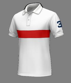 Polo bianco sportivo di cotone - Polo su misura