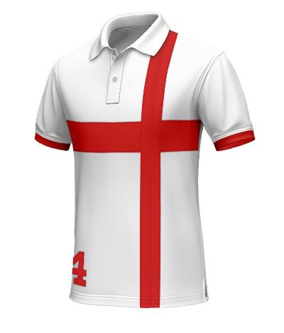 England Polohemd für den Mann Tailor4Less