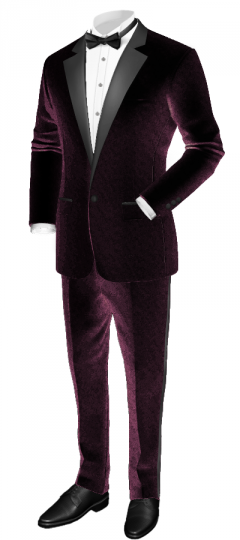 Purple tuxedo with wide lapel