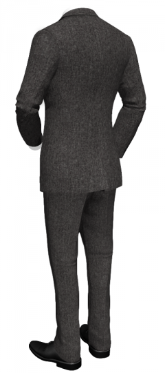 Grey slim fit suit in tweed