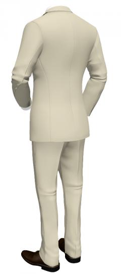 2-teiliger beige Anzug aus Baumwolle_Tailor4Less