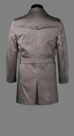 Grauer Einreiher-Trenchcoat nach Maß | Tailor4Less