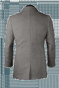 Grey Pea coat-View Back