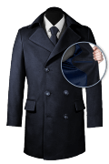 Blue double breasted Coat-front_open