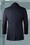 Blue Pea coat-View Back