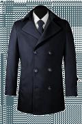 Blue Pea coat-View Front
