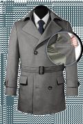 шерстяное двубортное пальто-бушлат с поясом-front_open