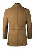 Beige Wool Pea coat-View Back