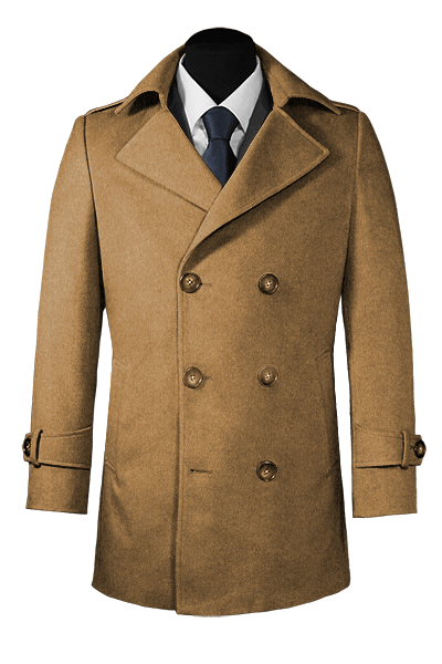 Beige Wool Pea coat