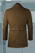 Brown Pea coat-View Back