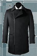 Cappotto doppiopetto grigio-Vista Frontale