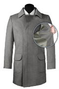 Grey double breasted Coat-front_open