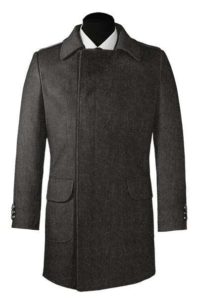 Grey double breasted Wool Coat