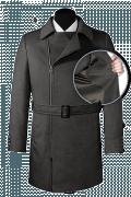 Manteau gris croisé avec ceinture en laine-front_open