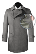 Grey double breasted Wool Coat-front_open
