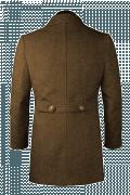 Cappotto doppiopetto a collo alto marrone-Vista Posteriore
