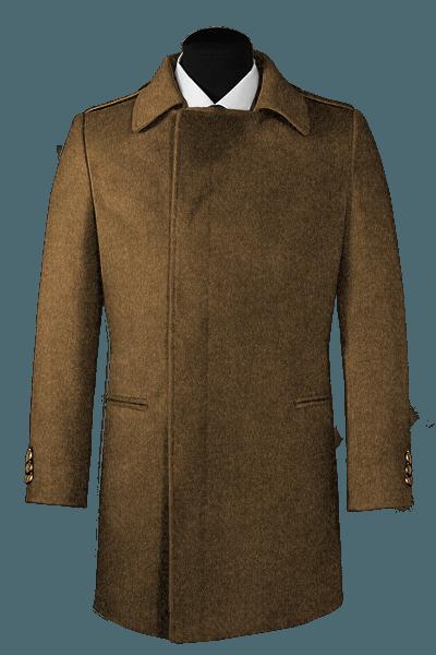 Brauner Zweireihiger Mantel