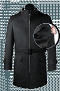 Cappotto con cintura grigio-front_open