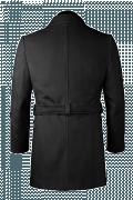 Manteau gris avec ceinture-Vue Dos