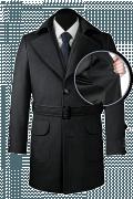 Manteau gris avec ceinture-front_open