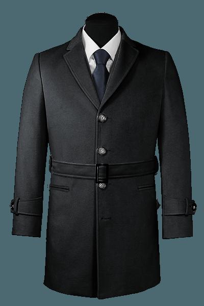 Grey belted Coat