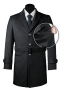 Grauer Mantel mit Gürtel-front_open