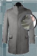 Cappotto a collo alto grigio-front_open