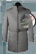 Grey belted Coat-front_open