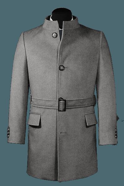 Cappotto con cintura grigio