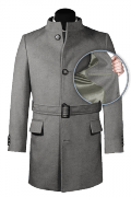 Grey belted Coat-front_open