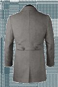 Grauer Mantel-Ansicht Rückseite