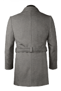 Grey belted Coat-View Back