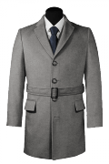 Grey belted Coat-View Front