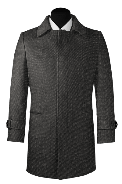 Manteau gris en laine