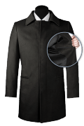 Manteau noir en laine-front_open