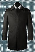 Cappotto nero di lana-Vista Frontale