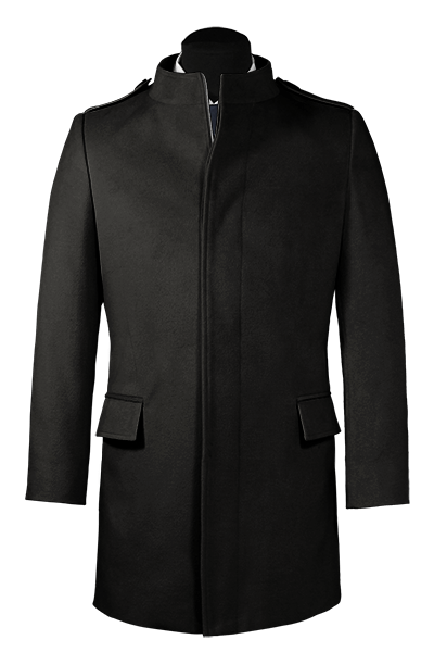 Black stand up collar Coat