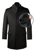 Cappotto a collo alto nero-front_open