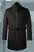 пальто с поясом-Вид спереди