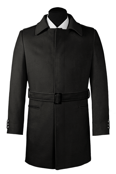 Black belted Coat