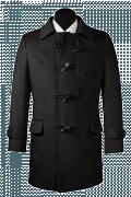 Manteau noir-Vue Avant