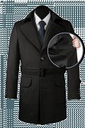 Black belted Coat-front_open