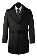 Black belted Coat-View Front