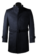 Blue belted Coat-View Front