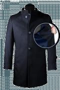 Cappotto a collo alto blu-front_open