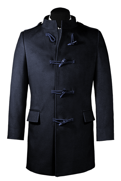 Blue stand up collar Coat