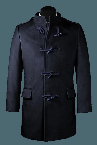 Blauer Stehkragen Mantel