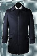 Cappotto blu-Vista Frontale
